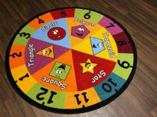 133X133CM CIRCLE RUGS/MATS SHAPES HOME/SCHOOL EDUCATIONAL NON SILP NUMBERS MATS
